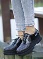 İnce Topuk Ayakkabı Siyah
